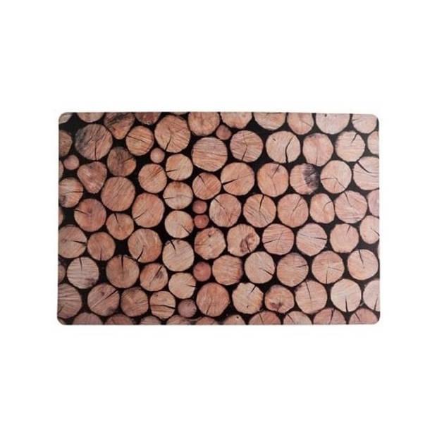 Placemats boomstam print 43 x 28 cm - Dineren/Ontbijten of knutselen
