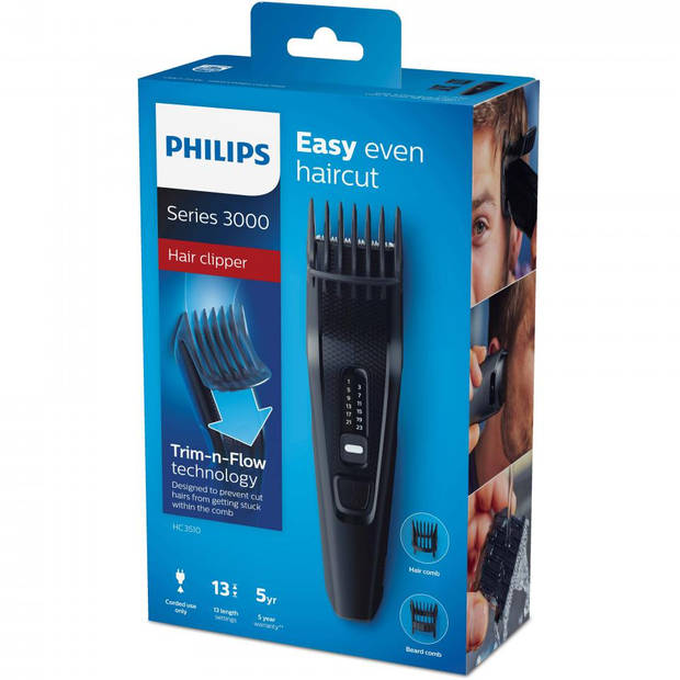 Philips tondeuse HC3510/15 - zwart