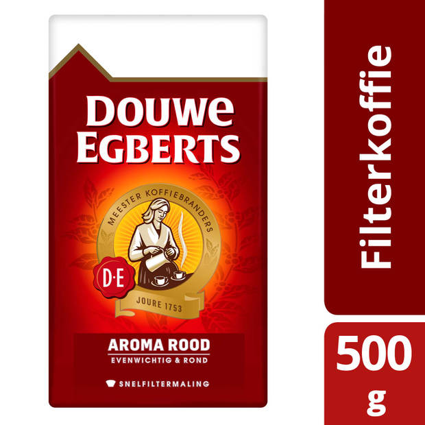 Douwe Egberts Aroma Rood filterkoffie 500 g