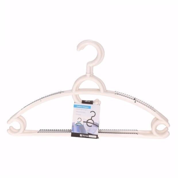 12x plastic kledinghangers wit