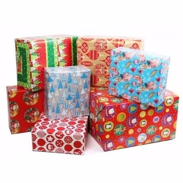 3x Kerst kadopapier - 200 x 70 - cadeaupapier / inpakpapier voor Kerstmis