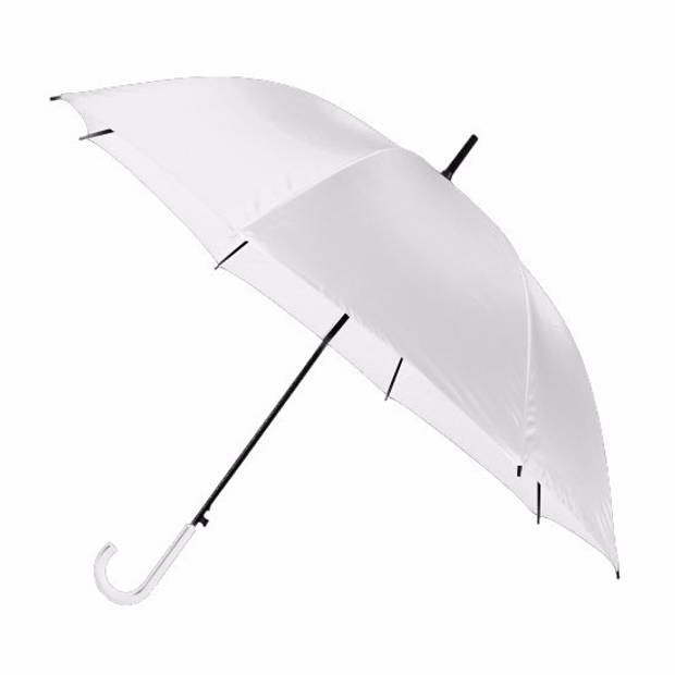 Witte automatische paraplu 107 cm