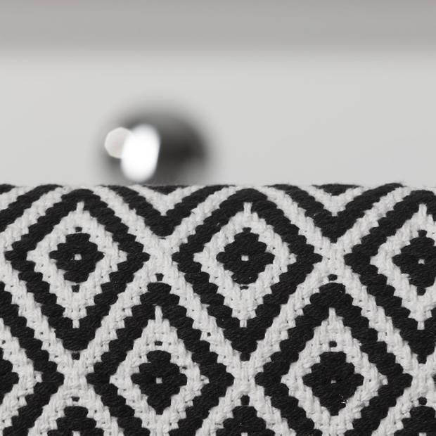 Sealskin badmat Trellis - Katoen - 60 x 90 cm - Zwart