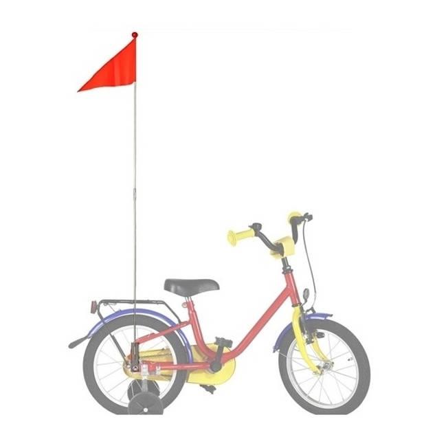 Bike Fun fietsvlag oranje - 150 cm - fietsvlaggetjes
