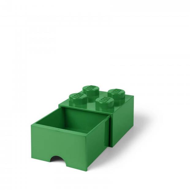 LEGO Brick 4 opberglade - donkergroen