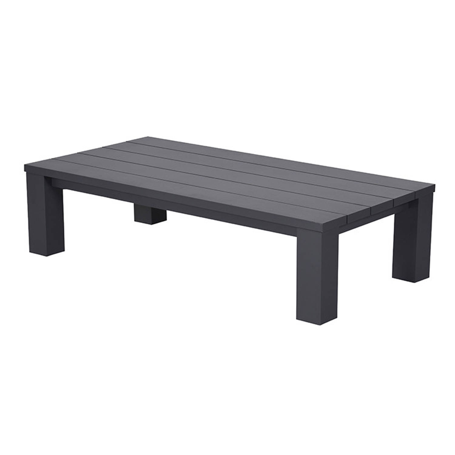 Garden Impressions Plaza lounge tafel 140x70xH40 cm donker grijs