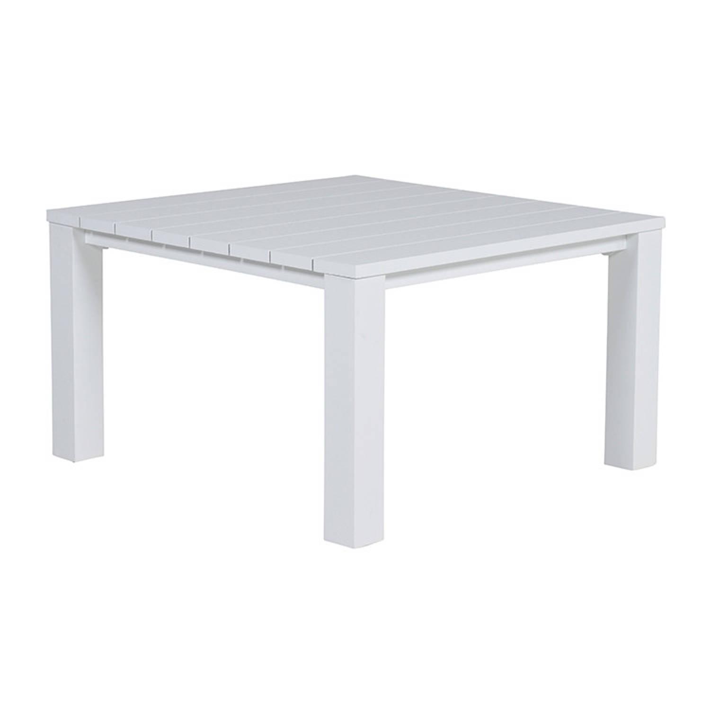 Garden Impressions Cube lounge dining tafel 120x120xH68 cm matt wit