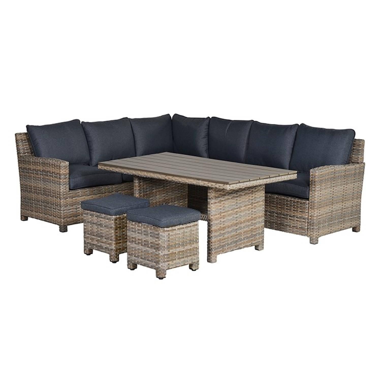 garden impressions alaska vijfdelige lounge dining set linker opstelling bruin blokker. Black Bedroom Furniture Sets. Home Design Ideas