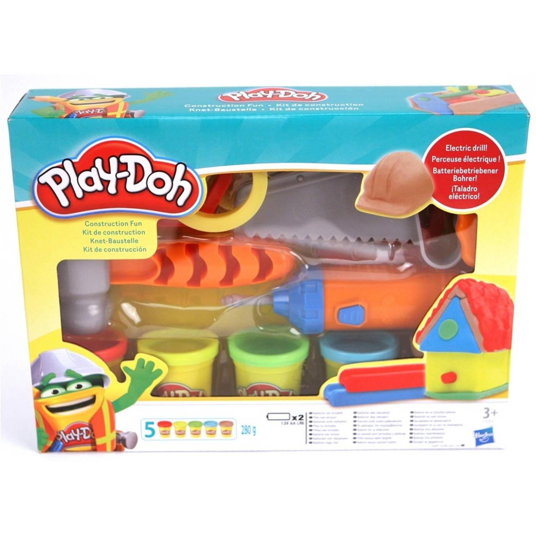 Play-Doh Bouwplaats Speelset + 5 Potjes Klei