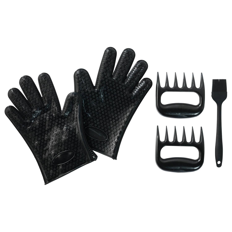 Barbecue vleesklauwen - met handschoenen en kwast