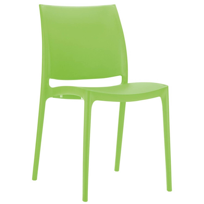 24designs Stapelbare Tuinstoel Maggy - Kunststof - Groen