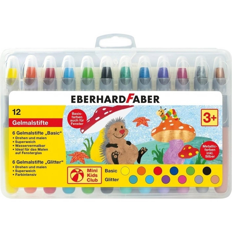 gelkleurpotloden Eberhard Faber 12 kleuren in plastic etui