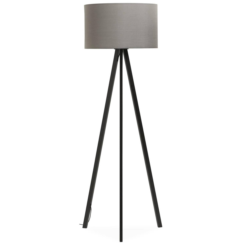24Designs Vloerlamp Leya - H159 - Zwart/Grijs