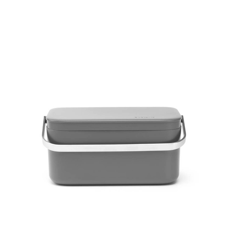 Brabantia aanrecht afvalbakje - 1,8 l - Dark Grey