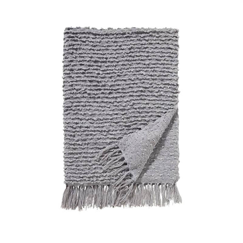 Damai Luxor plaid - 100% acryl - 130x170 cm - Grijs