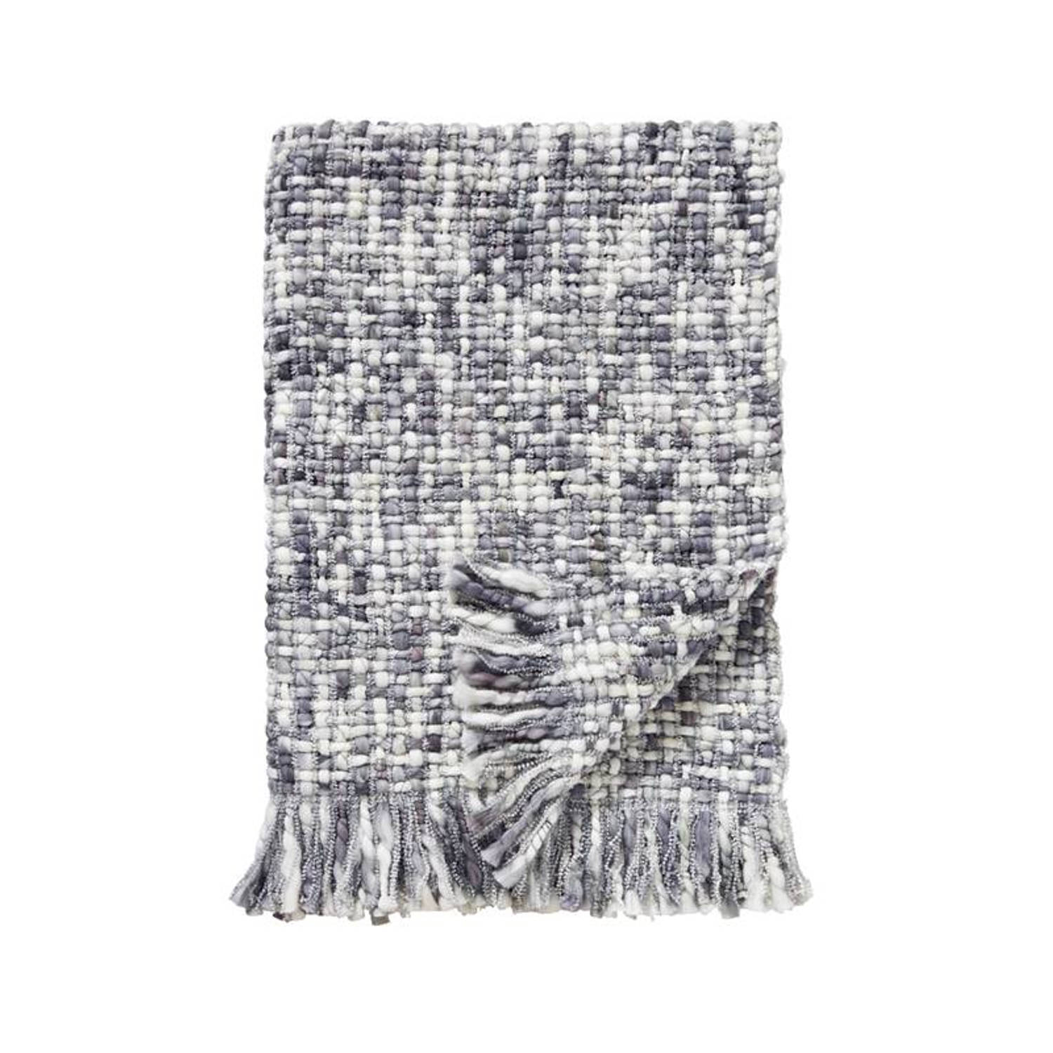 Damai Dakar plaid - 100% acryl - 130x170 cm - Grey