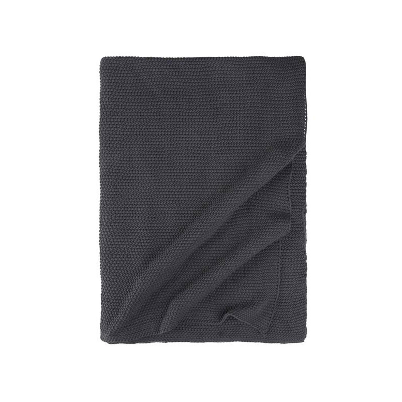 Walra Cozy Knit plaid - 100% katoen - 130x180 cm - Grijs