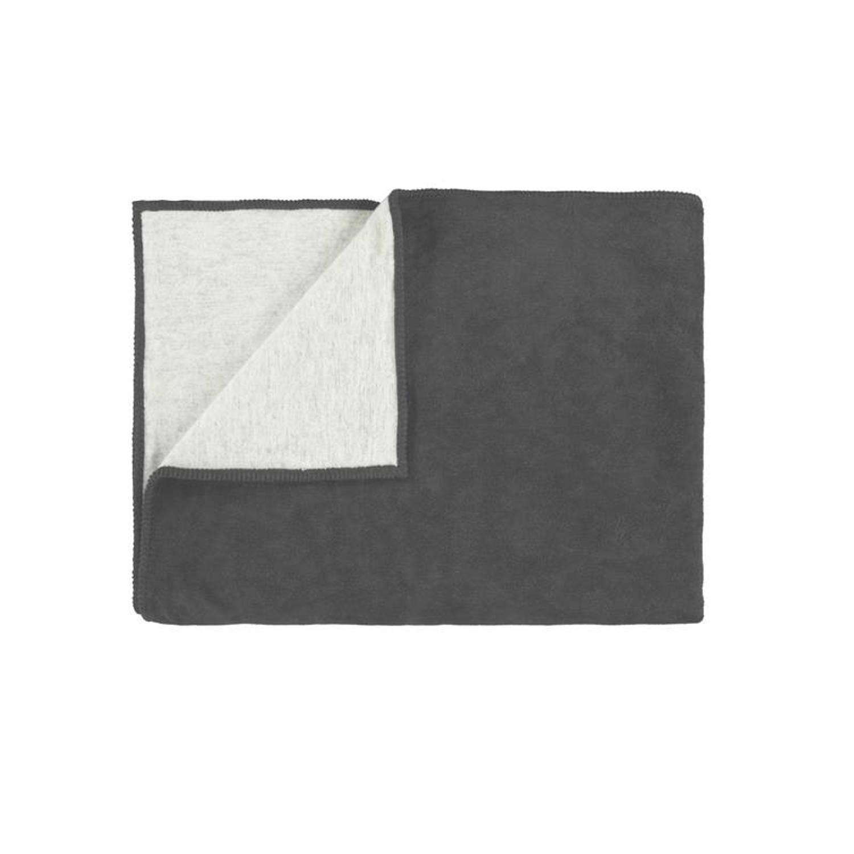Marc O'Polo Marc O'Polo Classic Fleece plaid - 58% katoen - 35% acryl - 7% polyester - 150x200 cm - Anthracite