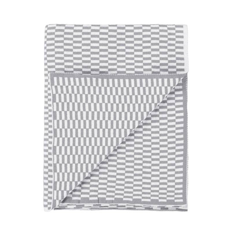 Marc O'Polo Marc O'Polo Yara plaid - 100% katoen - 130x170 cm - Grey