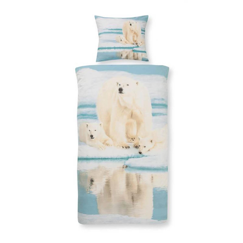 Day Dream Ice Bear dekbedovertrek 100 katoen 1 persoons (140x200 cm 1 sloop) 1 stuk (60x70 cm) Blauw
