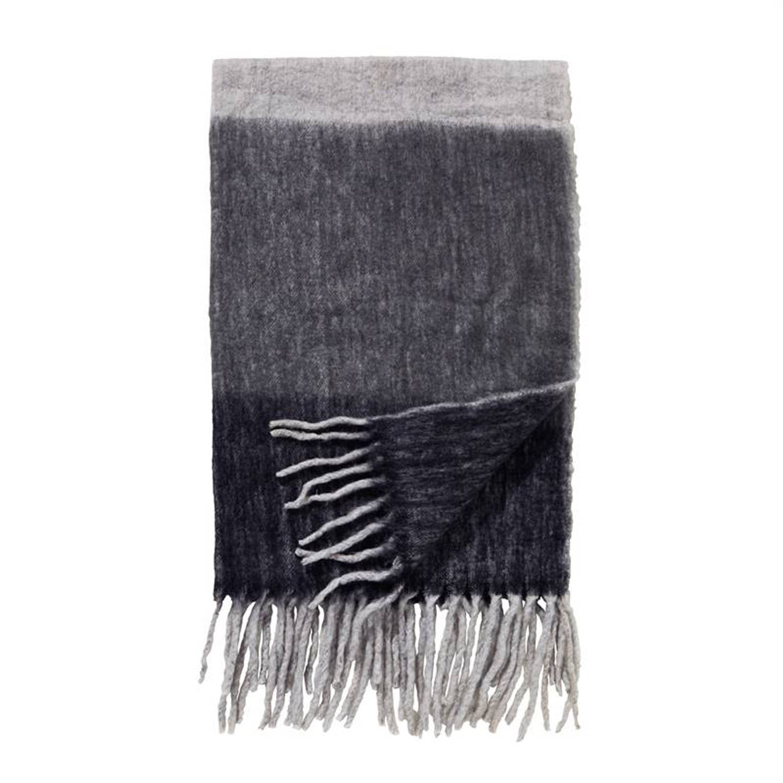 Damai Wellington plaid - 57% acryl - 23% polyester - 20% wol - 130x170 cm - Grijs