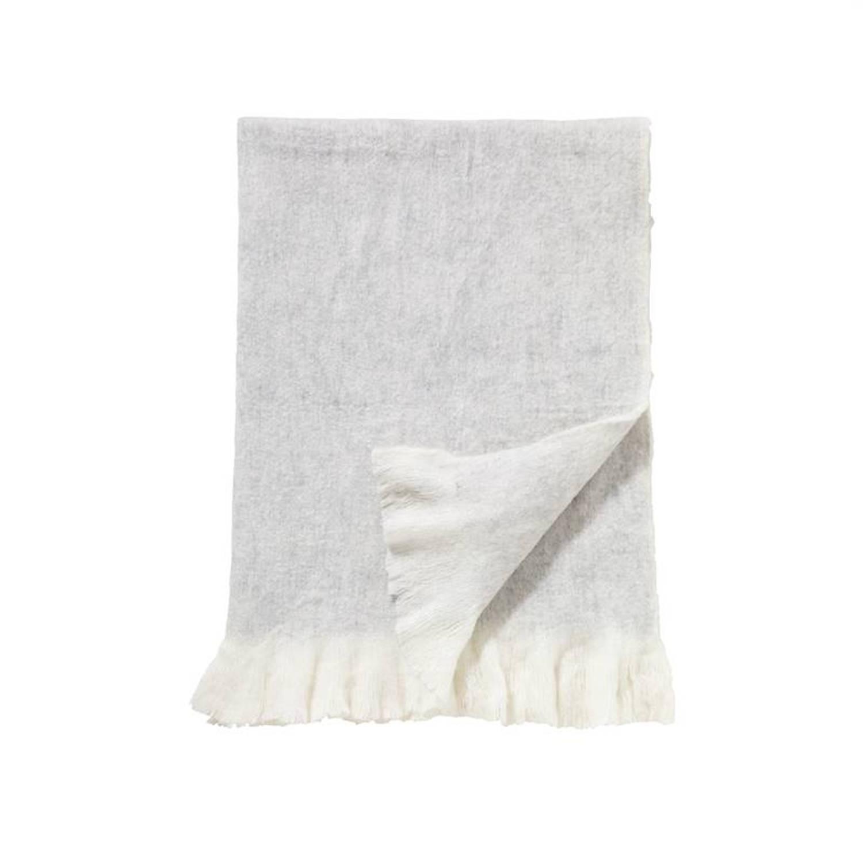 Damai Sutherland plaid - 57% acryl - 23% polyester - 20% wol - 130x170 cm - Grijs