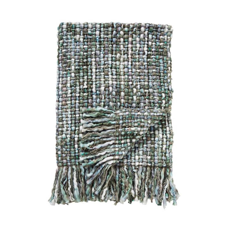 Damai Dakar plaid - 100% acryl - 130x170 cm - Groen