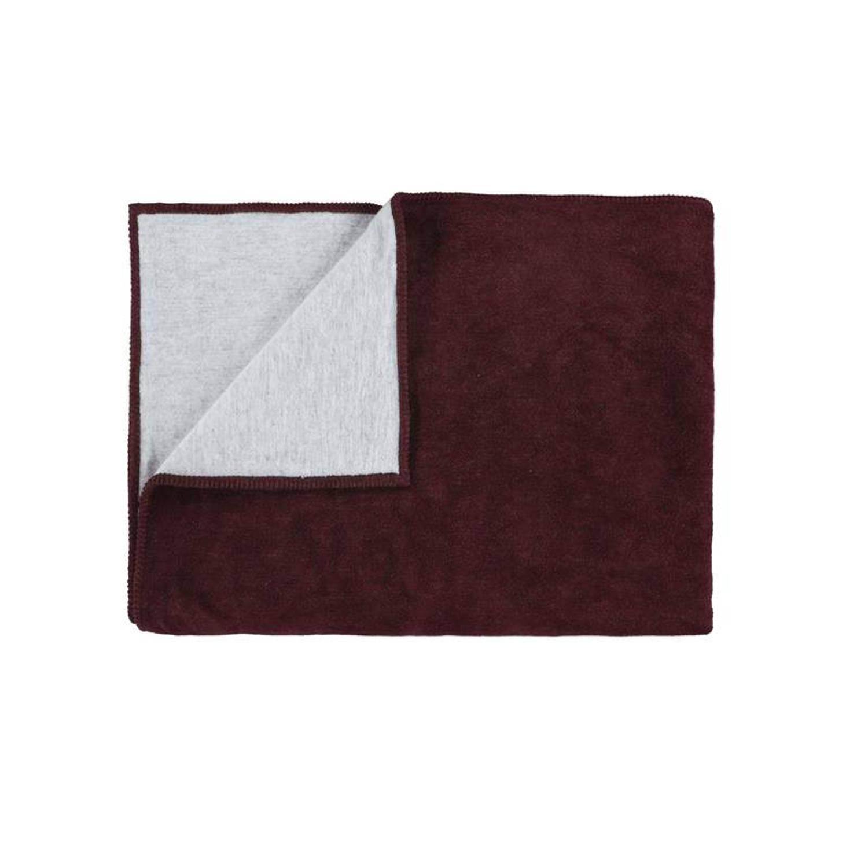 Marc O'Polo Marc O'Polo Classic Fleece plaid - 58% katoen - 35% acryl - 7% polyester - 150x200 cm - Plum