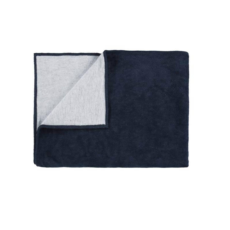 Marc O'Polo Marc O'Polo Classic Fleece plaid - 58% katoen - 35% acryl - 7% polyester - 150x200 cm - Navy