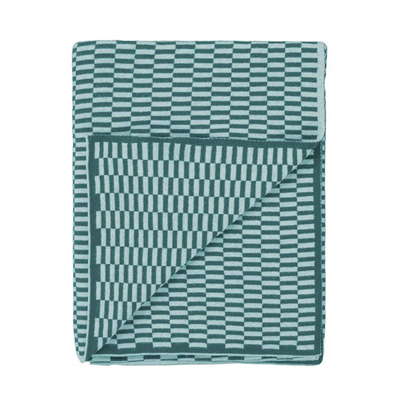 Marc O'Polo Marc O'Polo Yara plaid - 100% katoen - 130x170 cm - Sage green