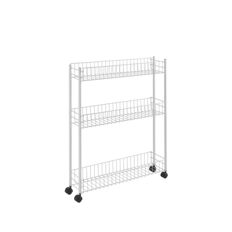 Metaltex Fino keukentrolley - 3-laags - wit