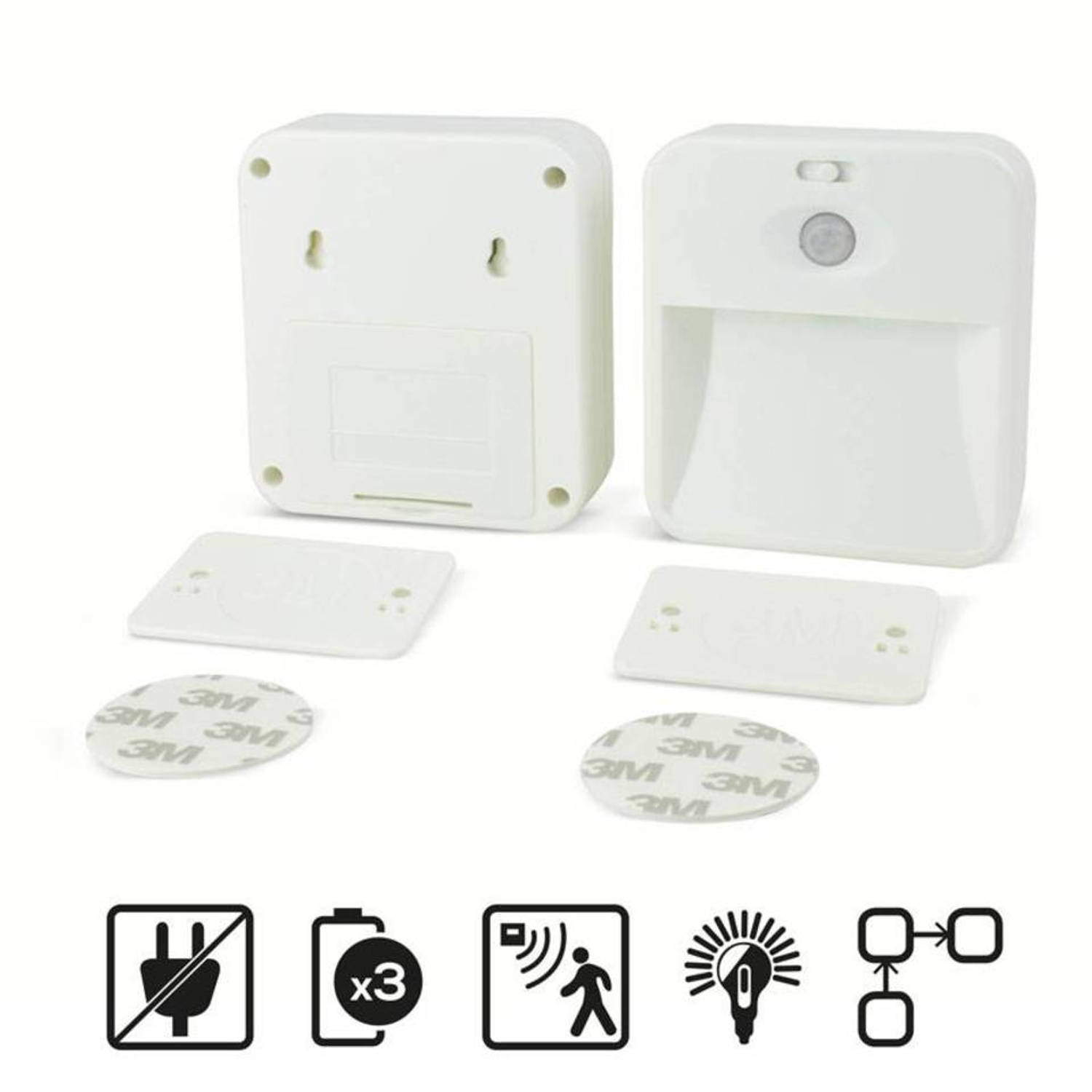Koppelbare led nachtlamp (set van 2)