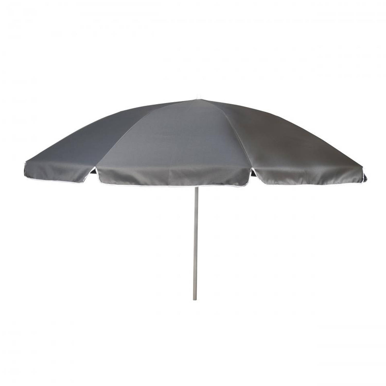 Parasol met knikarm 200 cm grijs