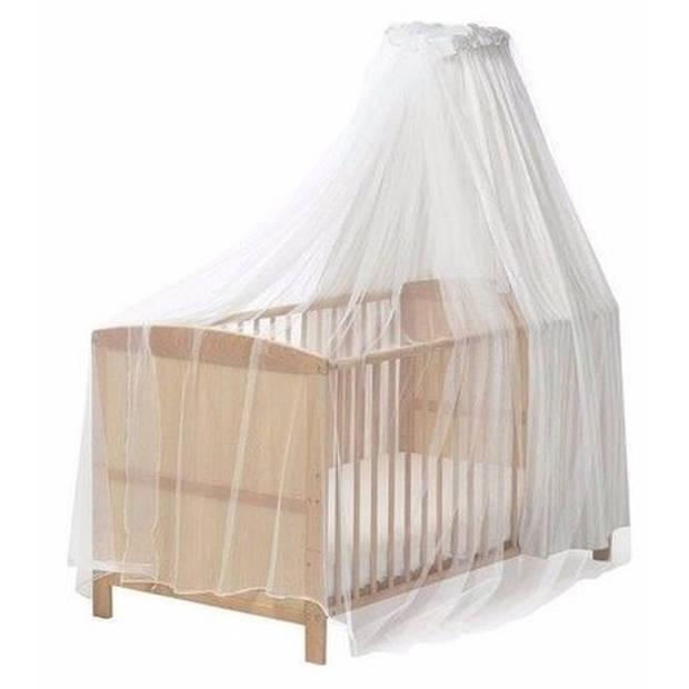 Baby ledikant klamboe muskietennet wit