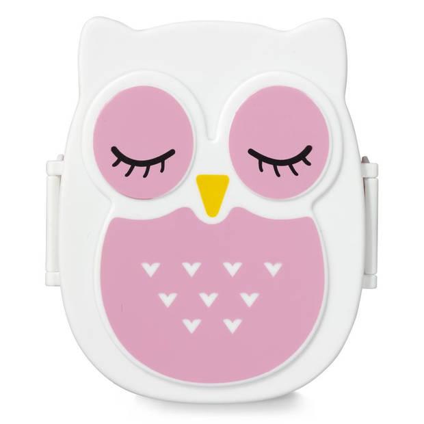 Blokker lunchbox uil - roze