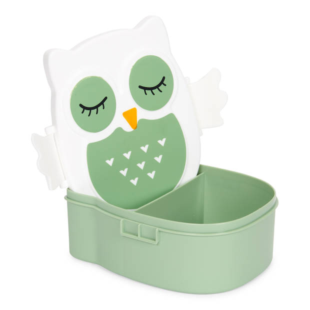 Blokker lunchbox uil - groen