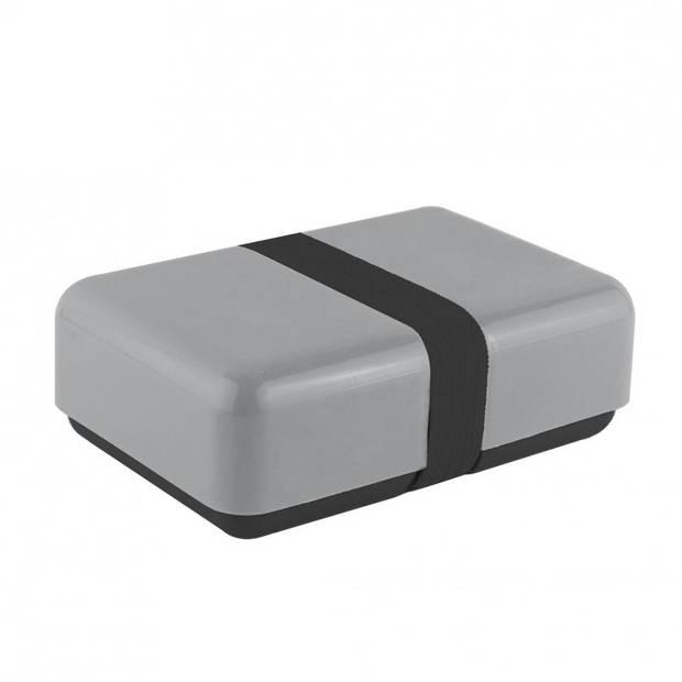 Blokker Basic lunchbox - zwart/grijs