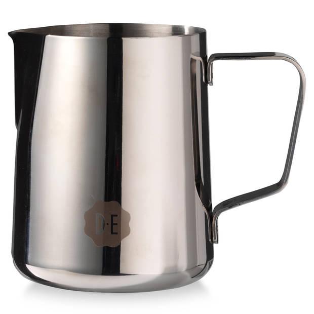 Douwe Egberts melkkannetje - rvs - 0,5 liter