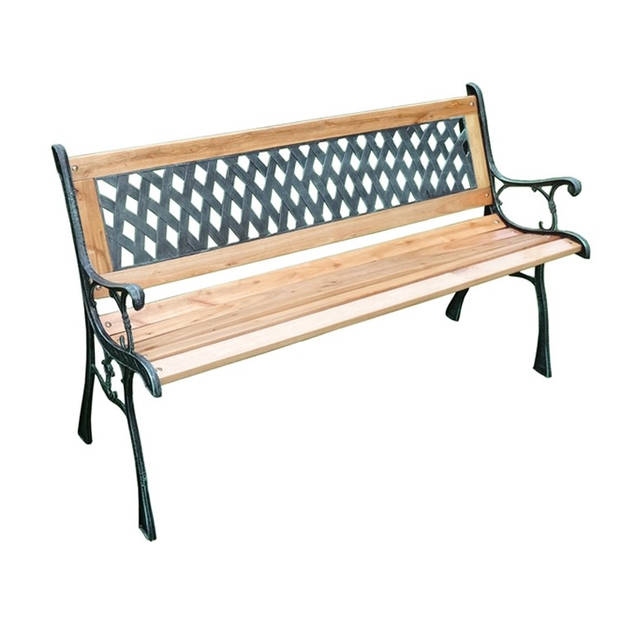 Lattice tuinbank hout 126x53x74 cm