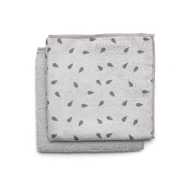 Brabantia Sink Side schoonmaakdoekjes microvezel 30 x 30 cm, set van 2 - Light Grey