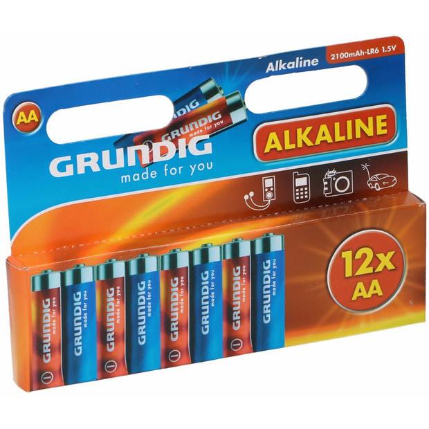 Alkaline batterijen AA Grundig 12 stuks - Voordeelpakket
