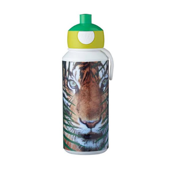 Mepal Campus Animal Planet tijger pop-up drinkfles - 400 ml