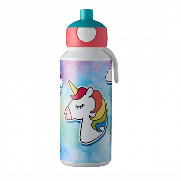 Mepal Campus eenhoorn pop-up drinkfles - 400 ml