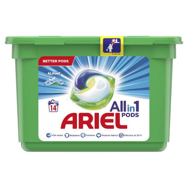Ariel Allin1 Pods Alpine Wasmiddelcapsules 14 Wasbeurten