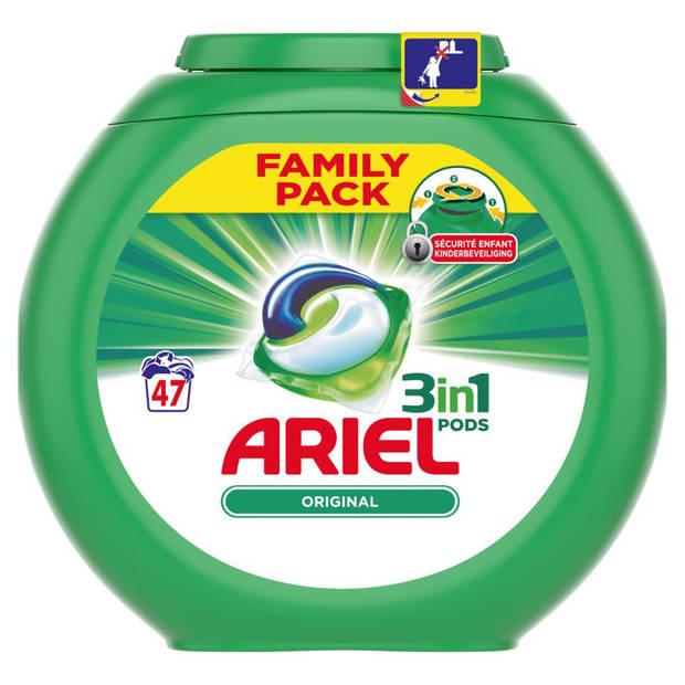 Ariel 3in1 Pods Original wasmiddelcapsules - 47 stuks