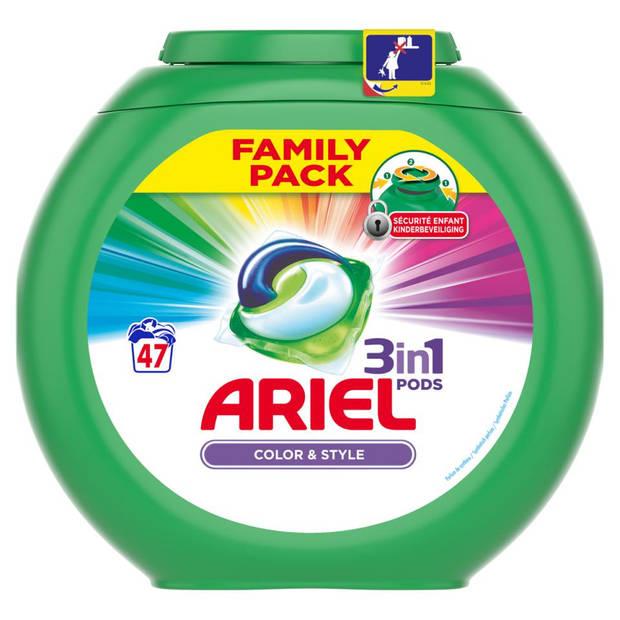 Ariel 3in1 Pods Kleur & Stijl wasmiddelcapsules - 47 stuks