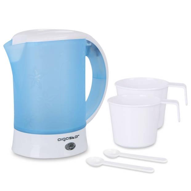Aigostar Walking Drip 30JQK – Reis Waterkoker - Blauw/Wit