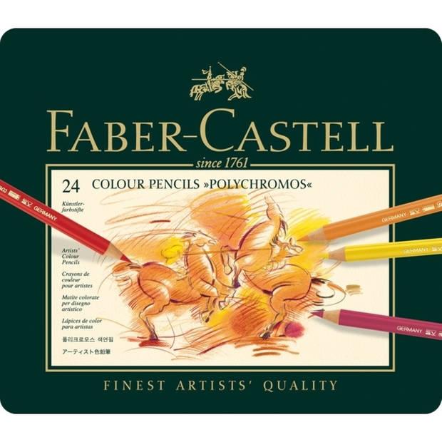 kleurpotlood Faber-Castell Polychromos etui à 24 stuks