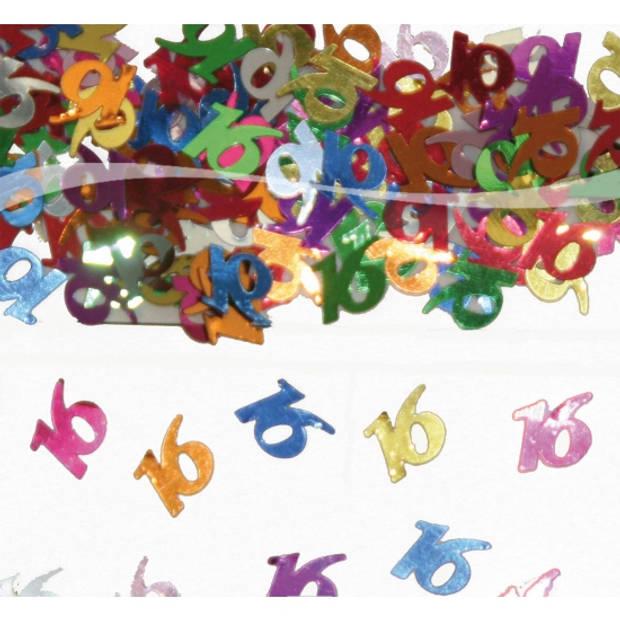 Confetti 16 jaar verjaardag thema - Leeftijd feestartikelen en versiering