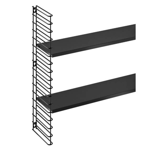 Tomado boekenrekuitbreiding - zwarte frame en planken